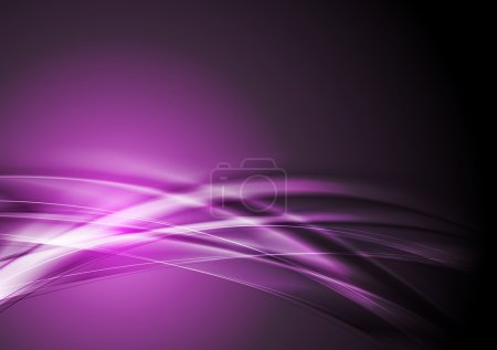 Illustration for Abstract purple wavy design. Vector background eps 10 - Royalty Free Image