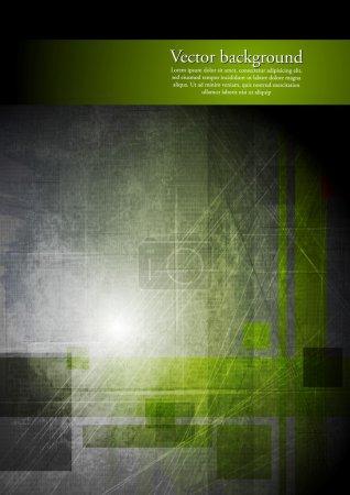 Abstract grunge hi-tech design