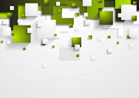 Illustration for Abstract green and grey vector tech background - Royalty Free Image