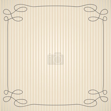 Illustration for Vintage background with simple swirly frame - Royalty Free Image