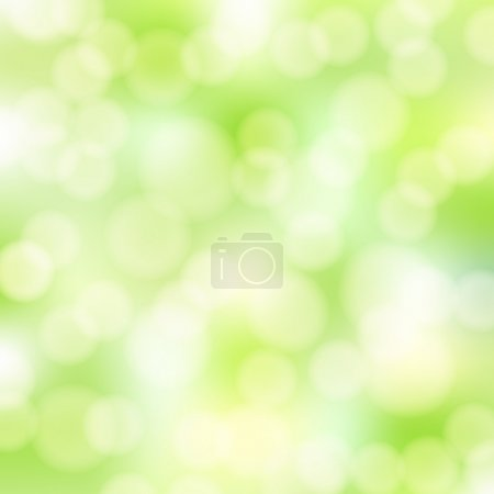 Illustration for Abstract green bokeh background - Royalty Free Image