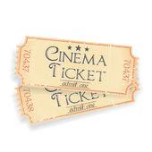 pair of vintage cinema tickets