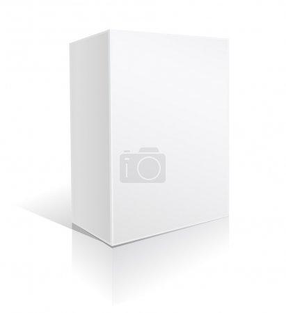 Ilustración de Caja de cartón blanco para software - Imagen libre de derechos