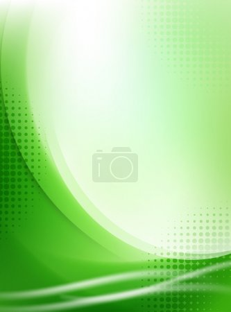 Illustration for Abstract light green flowing background with halftone - Royalty Free Image