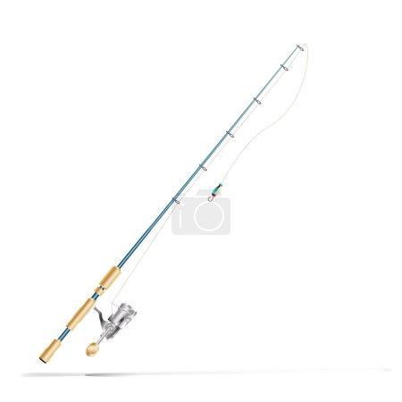 Illustration pour Tige de pêche - image libre de droit