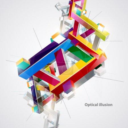 Illustration pour Illusion colorée optique . - image libre de droit