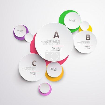 Illustration pour Cercle coloré design . - image libre de droit