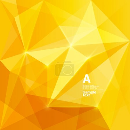 Illustration for Abstract yellow background - Royalty Free Image