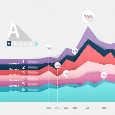 Colorful elements Infographics