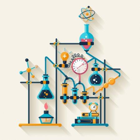 Illustration pour Infographie de chimie. Conception plate - image libre de droit