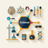 Science and Education Flat design