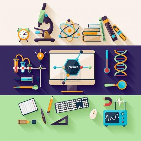 Photo pour Science et éducation. Conception plate - image libre de droit