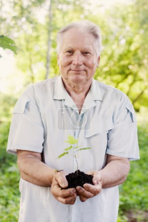 old men with plant outdoor