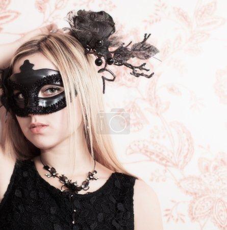 Beautiful Woman in the Carnival mask