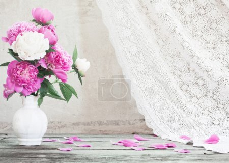 Photo for Flowers on white background - Royalty Free Image