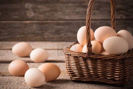 Photo for Eggs in basket - Royalty Free Image