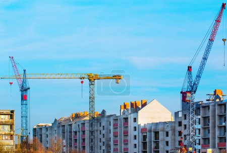 Photo pour Construction du nouveau bâtiment - image libre de droit