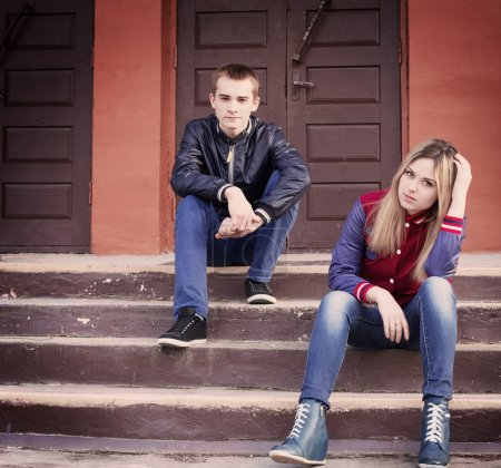 Photo for Teenagers outdoor - Royalty Free Image