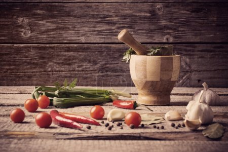 Mortar and pestle with