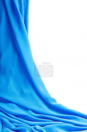 Blue fabric on a white background
