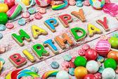 Všechno nejlepší k narozeninám sušenky a sladkosti