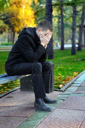 Sad Man At The Park