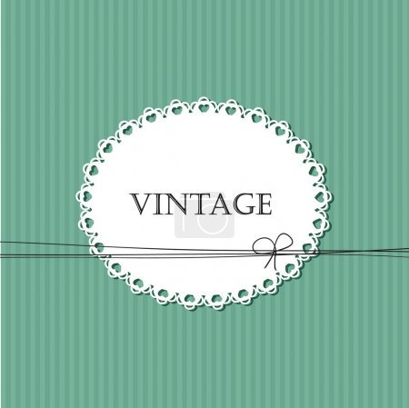 Vintage striped background with lace frame for your text