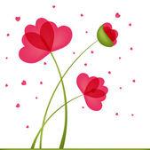 Bouquet of Flowers in a heart-shaped