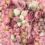 Wedding bouquet with rose bush, Ranunculus asiatic...