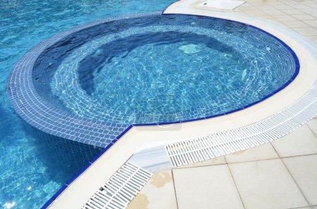 Swimming pool at hotel close up