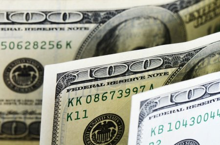 Dollar banknotes, business money background