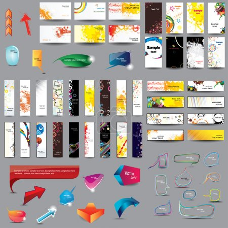 Mix Collection vertical and horizontal cards, head...