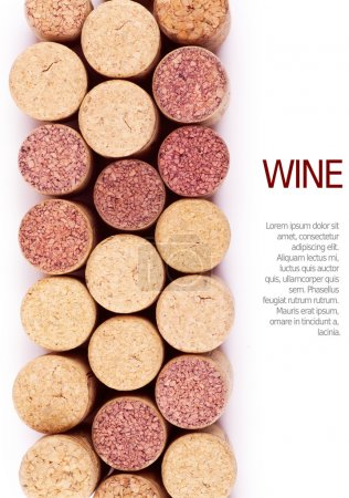 Photo for Closeup top view of wine corks - Royalty Free Image