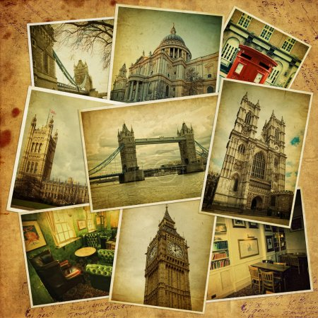 Vintage collage. London travel.