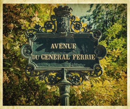 Foto de Letrero Vintage parisino. Foto retro. - Imagen libre de derechos