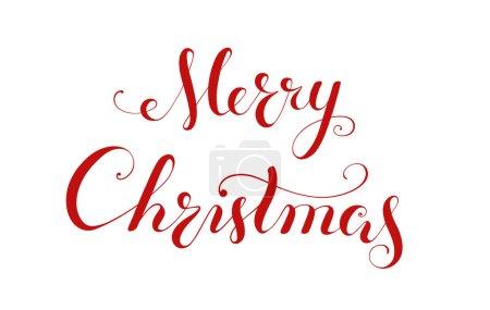Illustration pour Joyeux Noël écriture manuscrite lettrage. Calligraphie - image libre de droit
