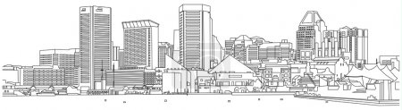 Baltimore-skyline-sketch