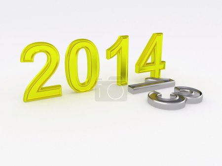 Photo for Happy New Year 2014. 3d - Royalty Free Image