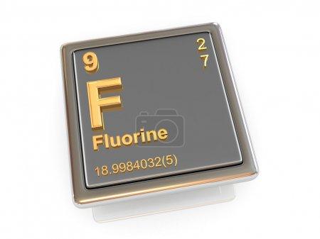 Fluorine. Chemical element.