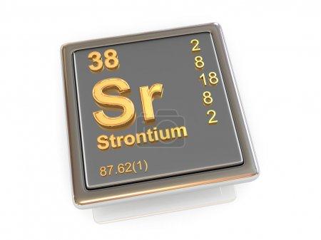 Strontium. Chemical element.