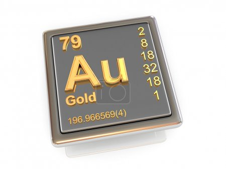 Photo pour L'or. Élément chimique. 3d - image libre de droit