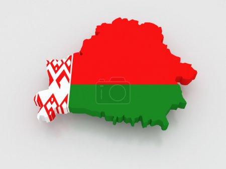 Photo pour Carte tridimensionnelle du Belarus. 3d - image libre de droit