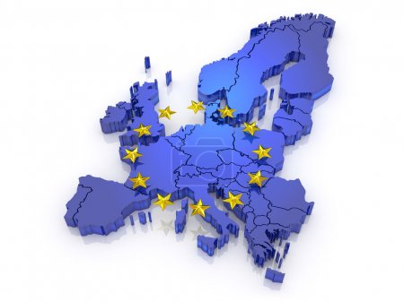 carte en trois dimensions de l'europe