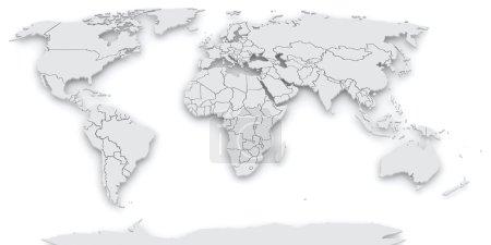 Photo pour Carte du monde. 3d - image libre de droit