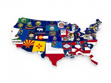 Photo for Three-dimensional map of USA. 3d - Royalty Free Image
