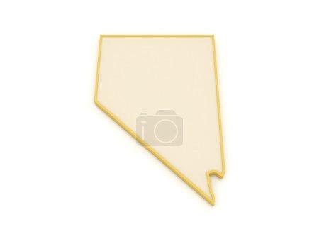 Photo pour Carte en trois dimensions du Nevada. États-Unis. 3d - image libre de droit