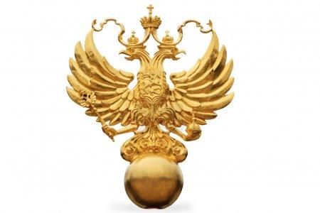 Photo pour L'emblème de l'Etat russe - une double tête eagle - image libre de droit