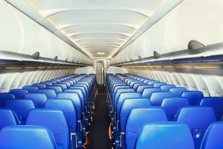 Modern interior of the airliner
