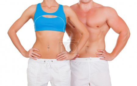 Sports woman and man