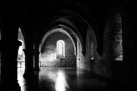 Big hall on Poblet cloister, Spain